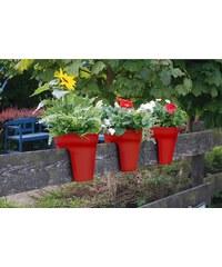KHW Set: Pflanztopf »Flowerclip«, 3 Stk., rot