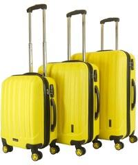 Packenger Hartschalentrolley Set mit 4 Rollen, »Velvet« (3tlg.)