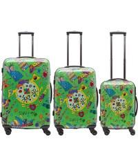 Packenger Hartschalentrolley Set mit 4 Rollen (3-tlg.), »OneWorld by Della«