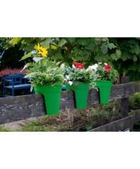 KHW Set: Pflanztopf »Flowerclip«, 3 Stk., grün