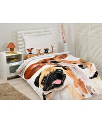 Detexpol povlečení bavlna The Dog Friend 140x200 70x80