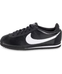 Nike Baskets/Running Cortez Leather Junior Noire Et Blanche Enfant