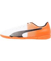 Puma EVOSPEED 5.5 IT Chaussures de foot en salle white/black/shocking orange