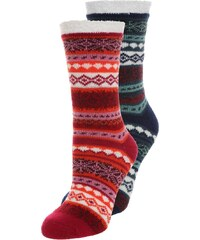 camano CHRISTMAS 2 PACK Chaussettes red