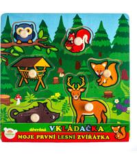 Teddies Vkládačka Moje první lesní zvířátka - 6 ks