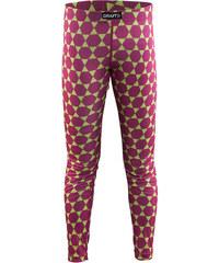 Craft Dívčí funkční kalhoty Mix and Match - růžovo-zelené