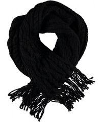 Golddigga Cable Scarf Ladies, black