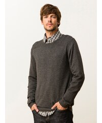 Pull Homme Laine/yack Boutonné Épaule Somewhere, Couleur Anthracite Chine
