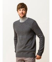 Pull Homme En Coton Et Laine Somewhere, Couleur Anthracite / Zinc