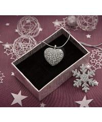 Přívěsek srdce s krystaly PK0462-0312