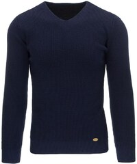 Módní tmavě modrý svetr pro správňáky