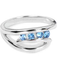 Silver Cat Stříbrný prsten s modrými krystaly SC136