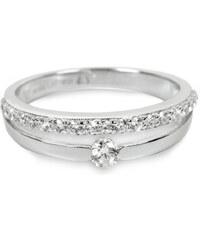 Silver Cat Stříbrný prsten s krystaly SC118