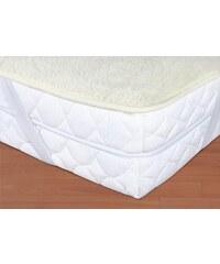 Kvalitex Vlněný matracový chránič 90x200cm bílý - evropské merino