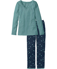 bpc bonprix collection Pyjama langarm in blau für Damen von bonprix