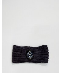 Boardwalk Boardmans - Gestricktes, schmucksteinbesetztes Haarband - Marineblau
