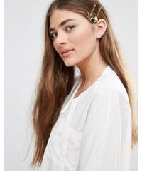 DesignB London DesignB - 2er-Pack Haarnadeln mit Sterndetail - Gold