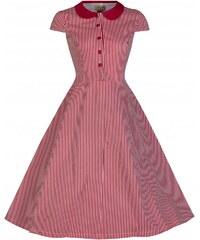 LINDY BOP RETRO DÁMSKÉ ŠATY Wendy Red Striped Vintage
