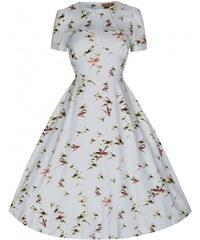 LINDY BOP Dámské šaty Clarissa s ptáčky