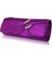 LS Fashion společenská kabelka LS0175 fialová