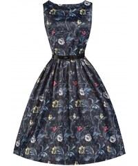 LINDY BOP Dámské retro šaty AUDREY Květinová noc
