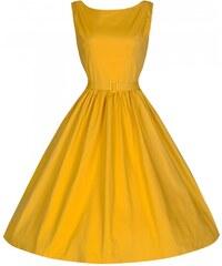 LINDY BOP Dámské šaty Audrey žluté