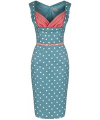 LINDY BOP Dámské retro šaty Vanessa Pastelová zelená