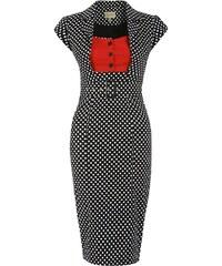 LINDY BOP Dámské pouzdrové retro šaty Wynona černé