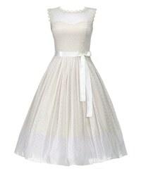 LINDY BOP Dámské retro šaty Aphrodite krémové
