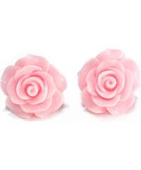 Náušnice Anglická růže růžové