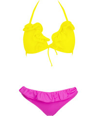SHE Dámské plavky Sissy růžovo žluté