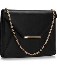 LS Fashion společenská kabelka LS0307 černá
