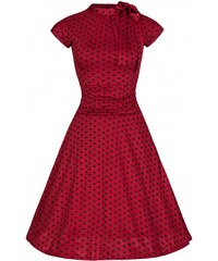 Dámské šaty Lindy Bop Dottie Red Polka
