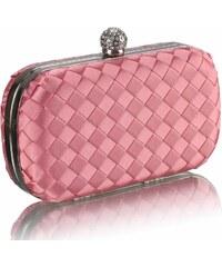 LS Fashion společenská kabelka LS0213 růžová