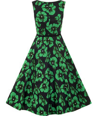 Lady Vintage RETRO DÁMSKÉ ŠATY Green Poppy
