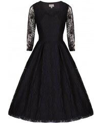 LINDY BOP Dámské šaty retro Lisette černé