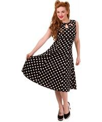 Dámské šaty Banned Songbird černé s puntíky