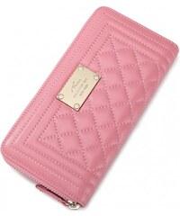 NUCELLE Dámská kožená peněženka LULU růžová