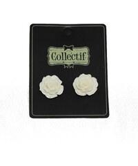 Náušnice Anglická růže bílé