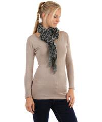TopMode Šátek s kostkovaným vzorem tmavě šedá