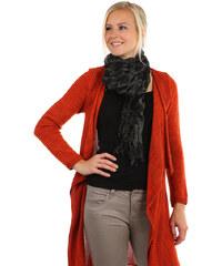 TopMode Šátek s kostkovaným vzorem černá