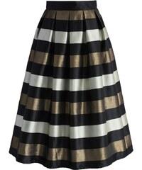 CHICWISH Dámská sukně Midi Cheers zlatá