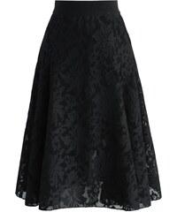 CHICWISH Dámská sukně Midi Twirl černá