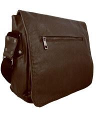 Mahel Tmavě hnědá pánská crossbody taška 8060-2A
