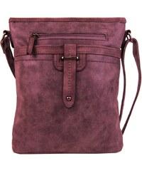 Tapple Dámská crossbody kabelka z broušené kůže 165B-4 purpurová