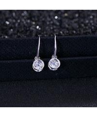 Lesara Zirkonia-Ohrhänger mit Ringen - Silber