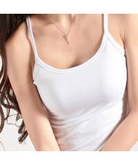 Lesara 2er-Set Unterhemd mit Spaghettiträgern Weiß - 36-38
