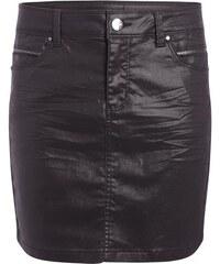 Jupe enduite détails poches Violet Coton - Femme Taille 34 - Cache Cache