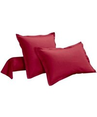 Ifilhome Taie d'oreiller ou traversin - rouge