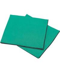 Blanc Cerise Lot de 2 serviettes de table en lin